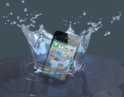 mobile dropped in water