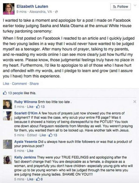 comment on obamas daughter1