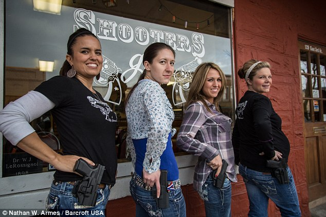 waitresses with loaded gun