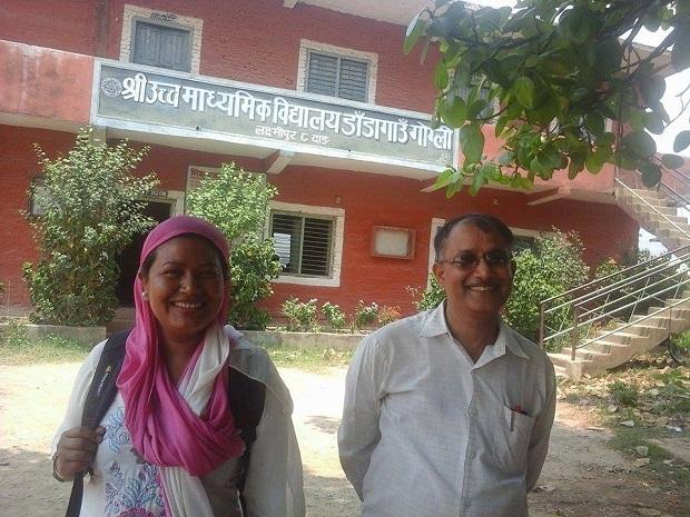 shanta chaudhary at school