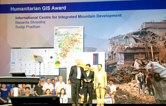 ICIMOD gets GIS Award