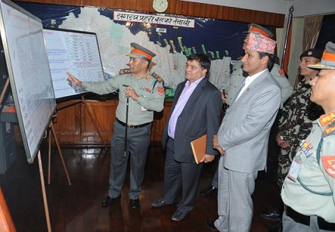 home minister basnet visited apf office